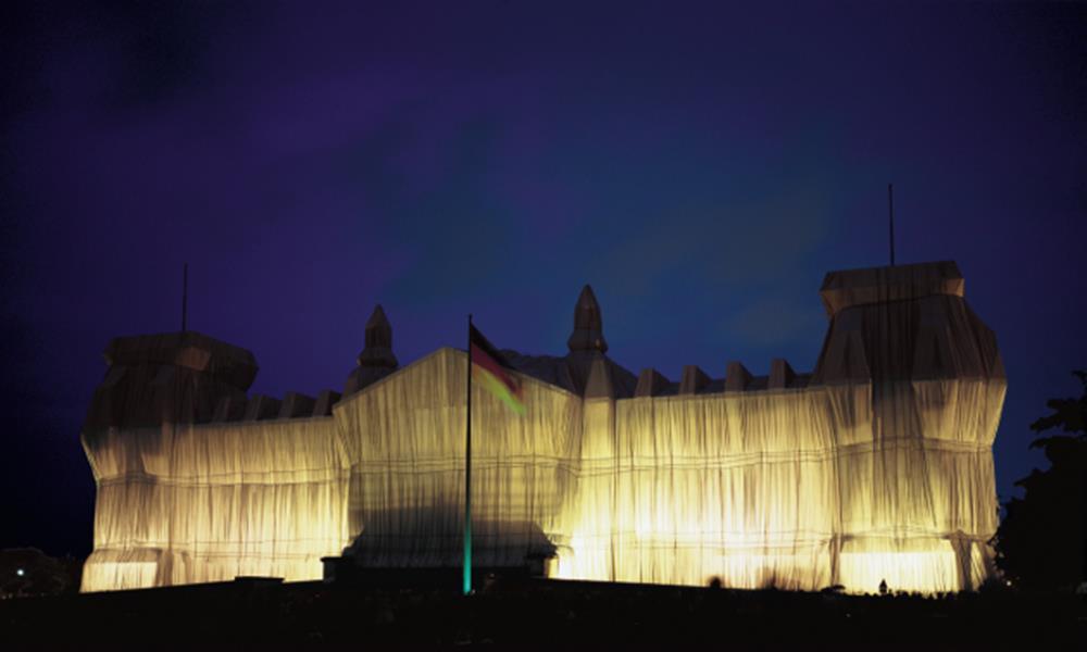 Christo und Jeanne-Claude, Reichstag Westfassade - Christo - k-2108CHR4